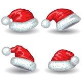 Santa Claus hats. Royalty Free Stock Photo