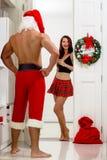 Santa Claus-Haus Stockbild