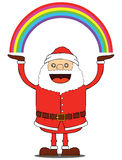 Santa Claus have rainbow Stock Photos