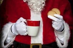 Santa claus having coffee Royalty Free Stock Photography