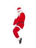 Santa Claus having fun Royalty Free Stock Image