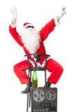 Santa Claus having fun at party Stock Image