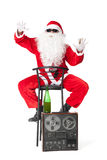Santa Claus having fun at party Royalty Free Stock Photography