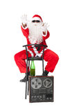 Santa Claus having fun at party Royalty Free Stock Photos