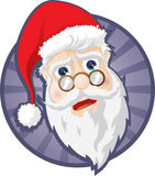 Santa Claus head. And new year Stock Photography