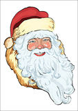 Santa Claus head. The vector drawing of the head of Santa Claus Royalty Free Stock Image