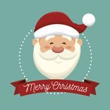 santa claus head  isolated icon design Royalty Free Stock Photos