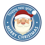 santa claus head isolated icon design Stock Image