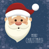 santa claus head  isolated icon design Stock Photos