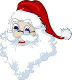 Santa Claus head isolated for you design Royalty Free Stock Photo