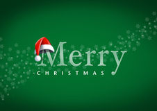 Santa Claus head with merry christmas Royalty Free Stock Photos