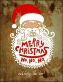 Santa claus head, merry christmas!  happy new Royalty Free Stock Image
