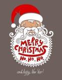 Santa claus head, merry christmas!  happy new Stock Image