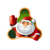 Santa Claus. Hello Stock Photos