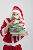 Santa Claus helper elf Stock Images