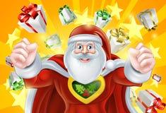 Santa Claus Hero Fotografia Stock