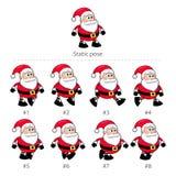 Santa Claus-het lopen kaders. Royalty-vrije Stock Fotografie