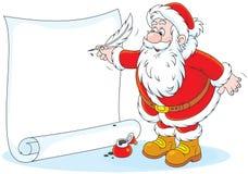 Santa Claus-het schrijven Stock Afbeelding