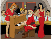 Santa Claus-het spelen piano Royalty-vrije Stock Fotografie