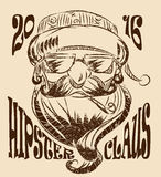 Santa Claus-Hippie-Vektorzeichnung Stockfoto