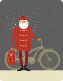 Santa Claus hipster Stock Foto