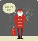 Santa Claus hipster Royalty-vrije Stock Fotografie