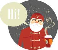 Santa Claus hipster Royalty Free Stock Photos