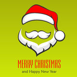 Santa Claus hipsterstil Arkivbild