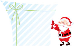 Santa claus and his gift Stock Photo