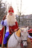 Santa claus on his horse Stock Photos