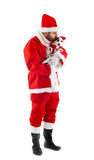 Santa Claus with his little dog Royalty Free Stock Photos