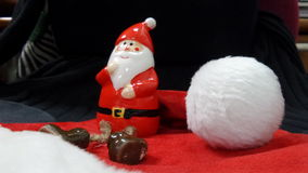Santa claus with his magic wizard hat. For xmas Stock Images
