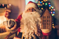 Santa Claus in his residence royalty free stock photography