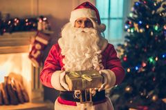 Santa Claus in his residence Royalty Free Stock Image