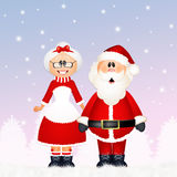 Santa Claus with his wife Royalty Free Stock Images