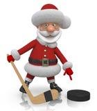 Santa Claus hockey player Royalty Free Stock Photography