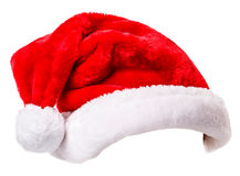 Santa Claus-hoed Stock Afbeelding