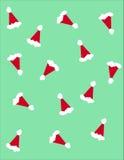 Santa Claus-hoeden Stock Afbeelding