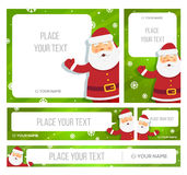 Santa Claus hold banner with Christmas greetings Royalty Free Stock Photo