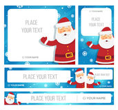 Santa Claus hold banner with Christmas greetings Royalty Free Stock Image