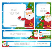 Santa Claus hold banner with Christmas greetings Stock Images