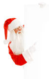 Santa Claus Holding a Advertising Space Stock Images