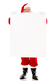 Santa Claus holding a banner Stock Image