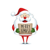 Santa Claus holding banner Stock Image