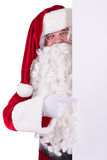 Santa Claus holding Banner Royalty Free Stock Image