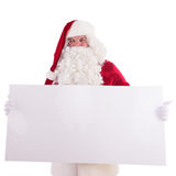 Santa Claus holding Banner. With Space for Your Text . Isolated on white background Royalty Free Stock Image
