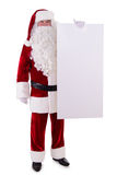 Santa Claus holding Banner Royalty Free Stock Images