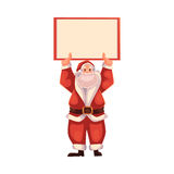 Santa Claus holding a blank board Stock Image