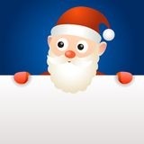 Santa Claus holding blank page Stock Images