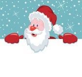Santa claus holding blank paper Royalty Free Stock Photo